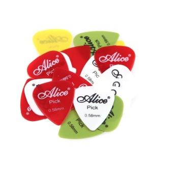Alice 20pcs 0.58mm Smooth Nylon Guitar Picks Plectrums - intl