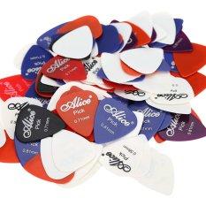 Alice AP-100P 100pcs 0.58mm/0.71mm/0.81mm Guitar Picks Plectrums Smooth ABS – Intl