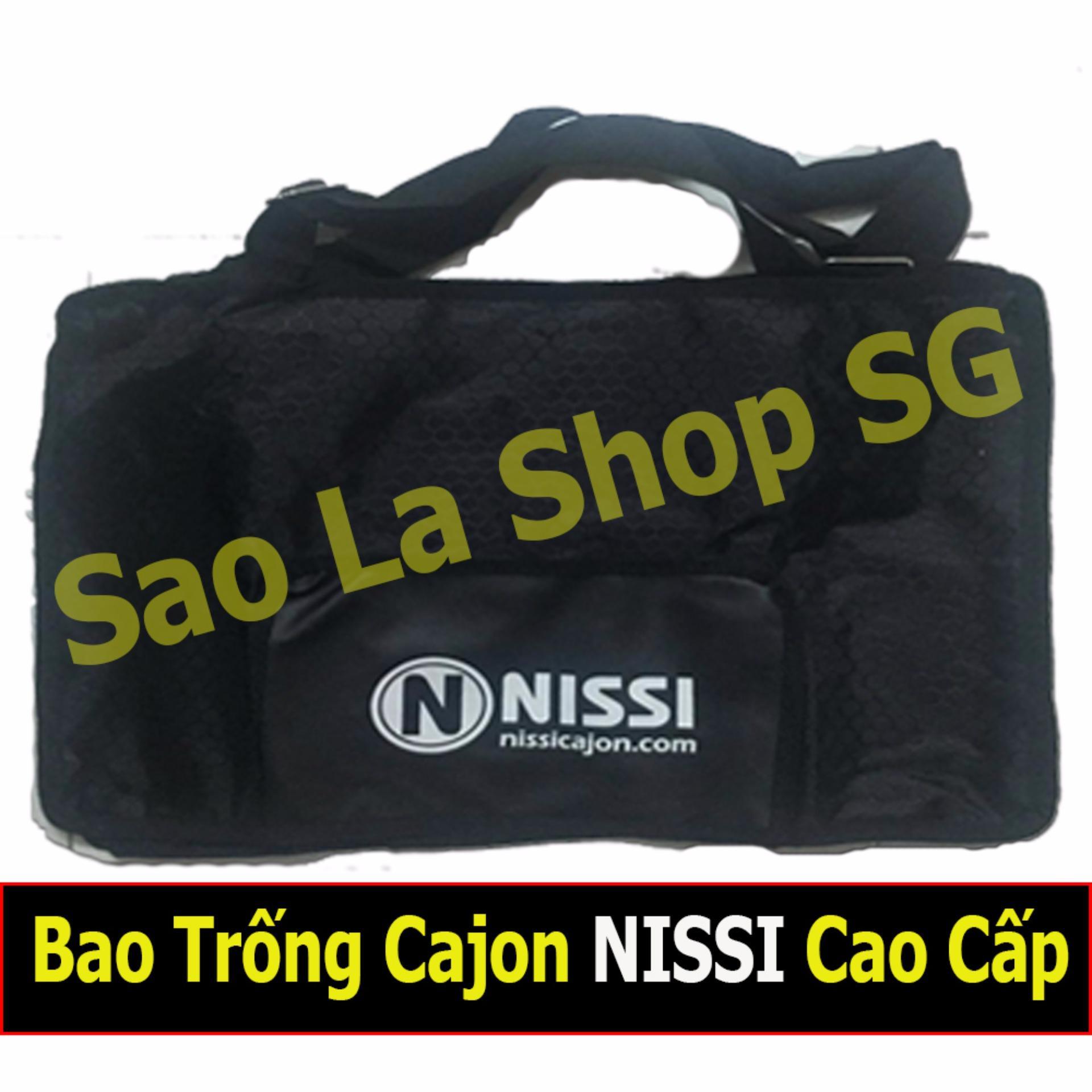 Chi tiết sản phẩm Bao Trống Cajon NISSI Cao Cấp Có Ngăn Để Dùi Trống (Chống Mưa, Chống Va Đập)
