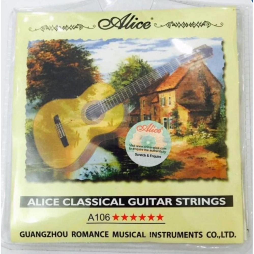 [Xả kho] Bộ 6 dây đàn ghi-ta Classic-Alice A106