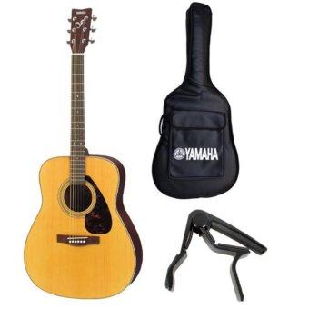 Bộ đàn guitar acoustic Yamaha F370+ bao đàn+ Capo(Vàng nhạt)