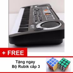 Bảng Báo Giá Bộ đàn Organ 61 phím MQ-6106 có Micro dành cho trẻ em Bộ Rubik cấp 3 nền màu đen