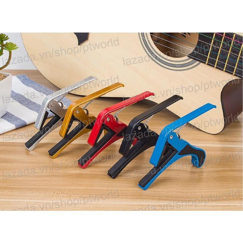Bộ Guitar Capo cao cấp + pick Alice (kẹp tăng tông đàn) nhiều màu