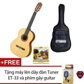 Bộ Guitar Yamaha Classic C40M + Bao đàn Yamaha và Dây Alice Classic A106 + Tặng máy lên dây đàn Tuner ET-33 và 1 phím gãy guitar