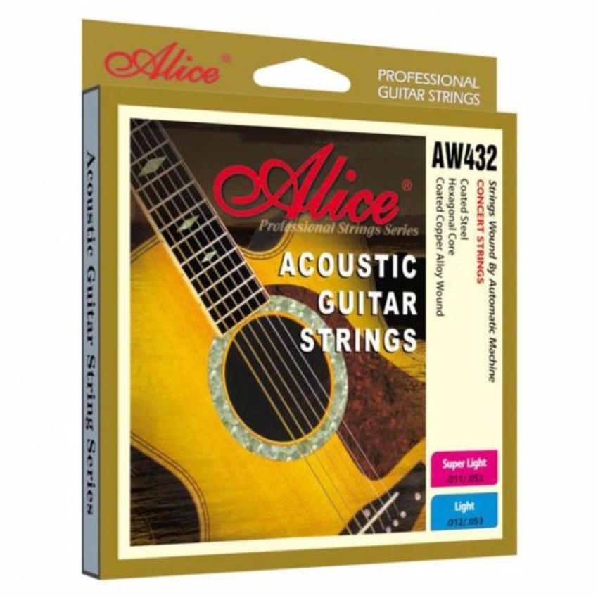 Bộ Hộp 6 Dây Đàn Ghi-ta Acoustic Alice-A-432 Cao Cấp, Bonus + Pick Alice