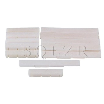 Cattle Bone Uklele Guitar Saddle Nut Set Of 10 Beige - intl