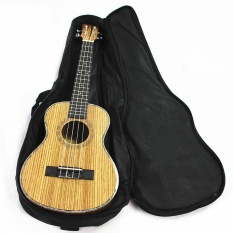Cocotina Ukulele Soft Comfortable Shoulder Back Carry Case Bag With Straps Black For Gift 26""