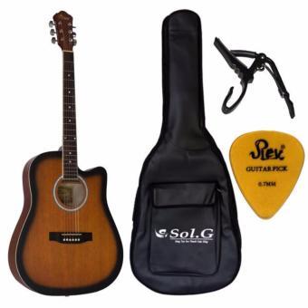 Combo đàn guitar acoustic Vines + bao đàn tặng Capo, pick rex