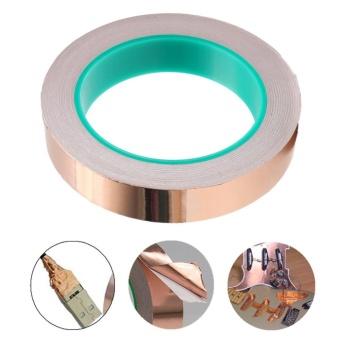 Copper Foil Tape EMI Shielding For Guitar/Slug And Snail Barrier 20MM*20M - intl