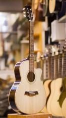 Đàn guitar acoustic phím chuẩn DVE80 (có ti chống cong cần)