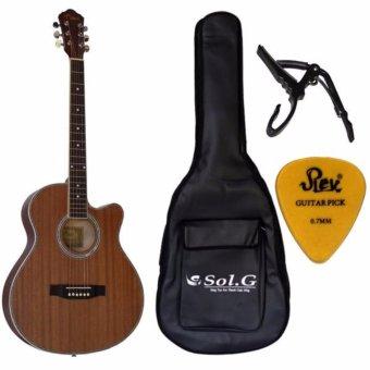 Đàn guitar acoustic Vines+ Bao 3 lớp+ Capo+ Pick