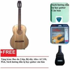 Đàn guitar Classic Việt Nam DVE70C (Màu gỗ) + Bao da