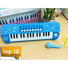 Đàn Organ cho bé có mic hát karaoke (Xanh)
