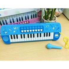 Đàn Organ có Micro giá rẻ cho bé học và chơi (Xanh)