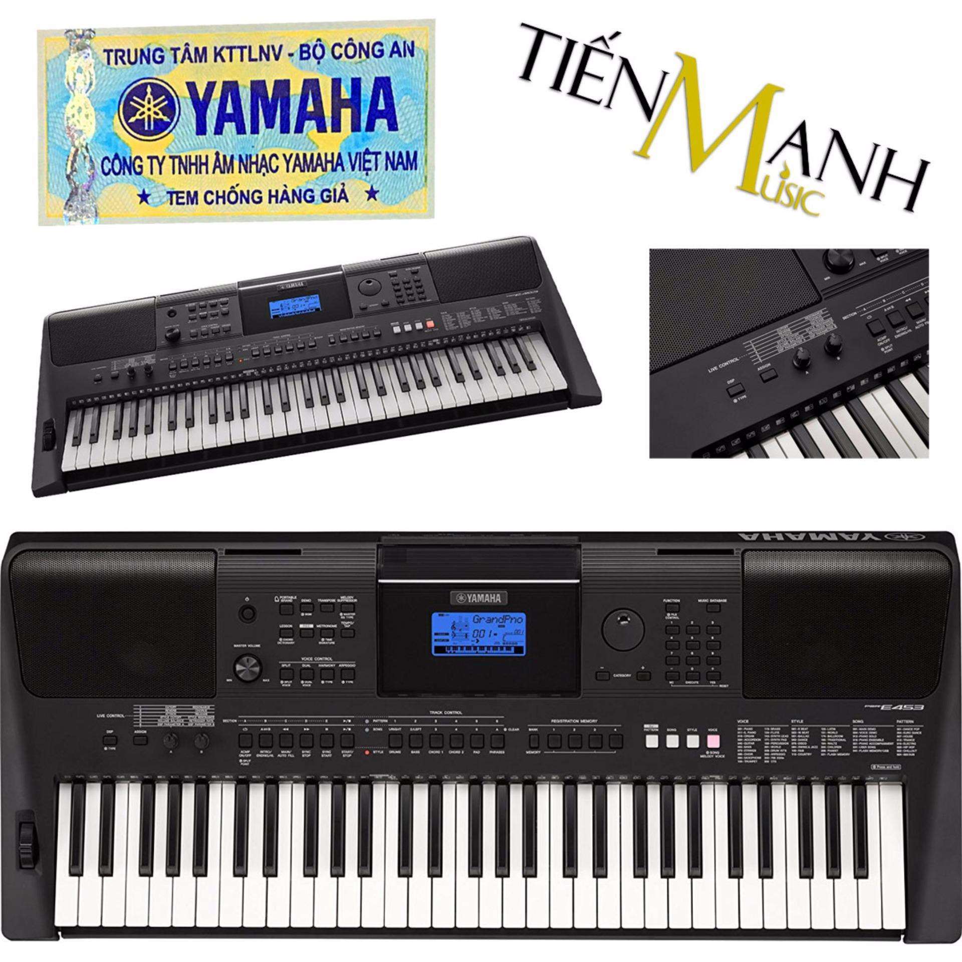 Đàn Organ Yamaha PSR-E453 - Hãng phân phối chính thức (Keyboard PSR E453 - Hàng chính hãng, Có tem chống...