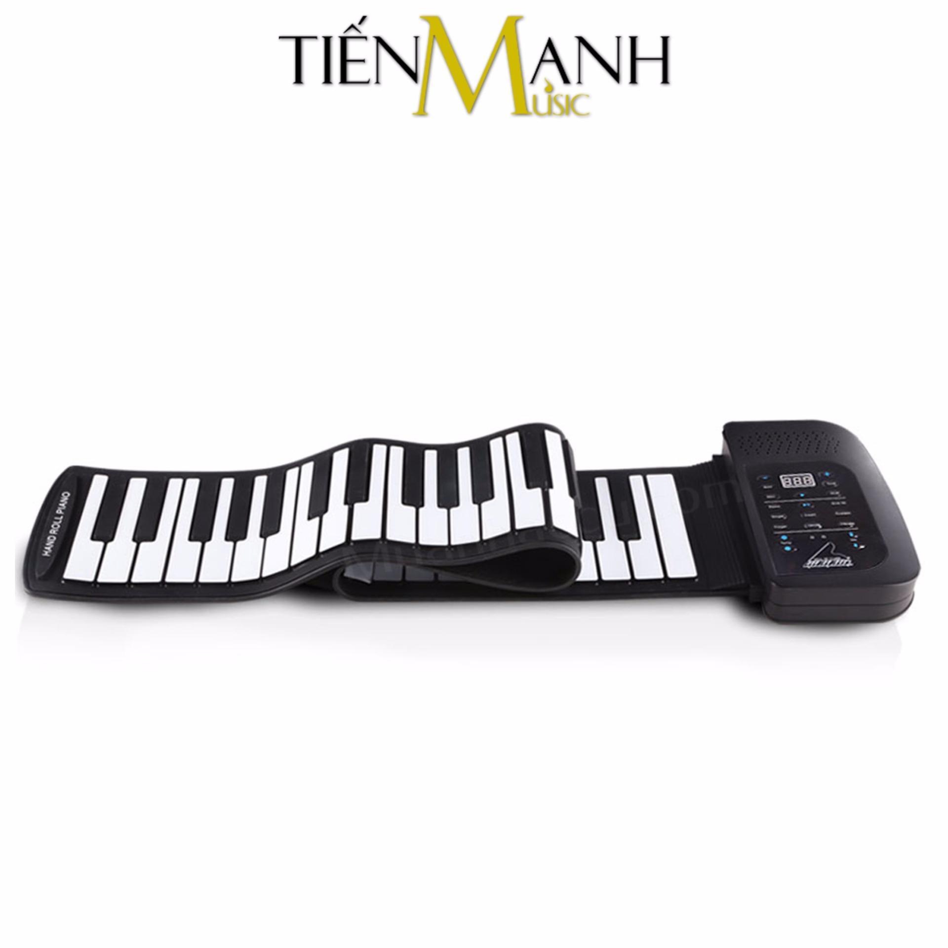 Đàn Piano 61 phím cuộn mềm dẻo Konix Flexible PA61 – Pin sạc 1000mAh