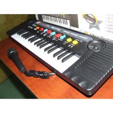 Đàn Piano cho bé MQ-3700 có Micro đánh đàn chỉnh âm (Đen phối trắng)