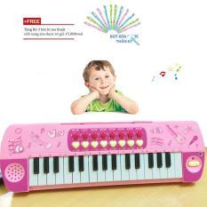 Đàn Piano Có Mic Cho Bé giá rẻ/đàn organ cho bé giá rẻ (Hồng) + Tặng bộ 3 bút bi ma thuật
