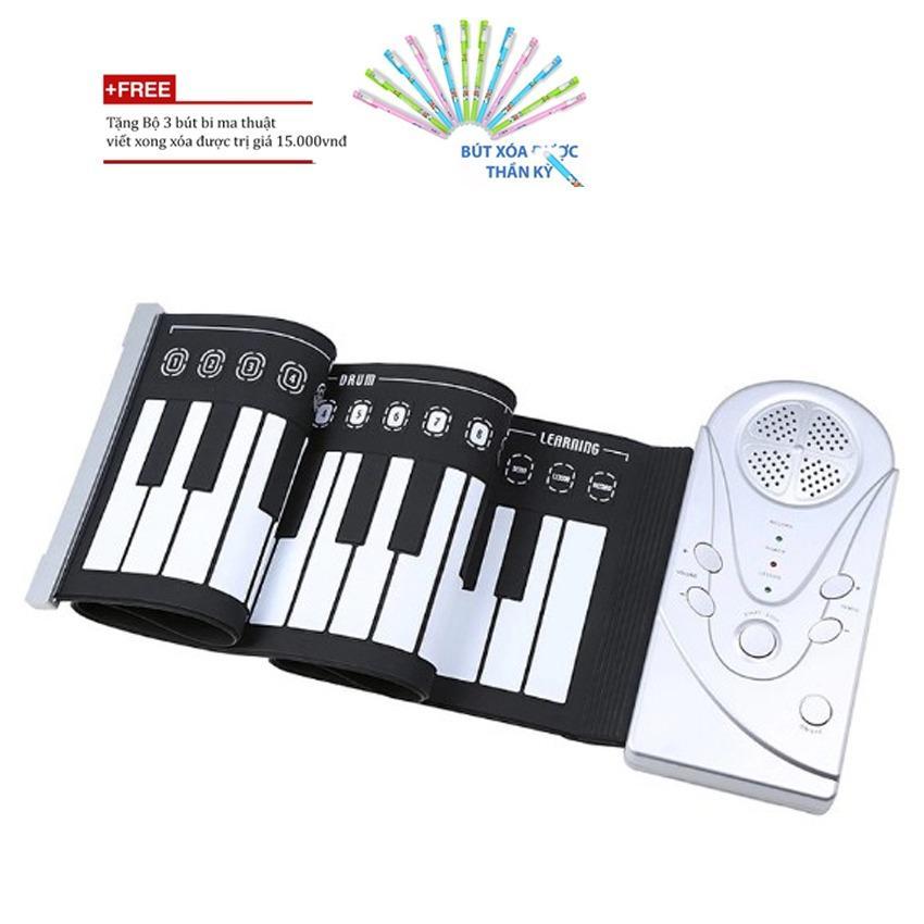 Đàn piano cuộn giá rẻ/đàn piano cuộn 49 phím + Tặng bộ 3 bút bi ma thuật