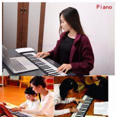 Đàn piano điện tử bàn phím cuộn dẻo 49 keys (Trắng), Đàn trẻ em điện tử, – Hàng Nhập Khẩu
