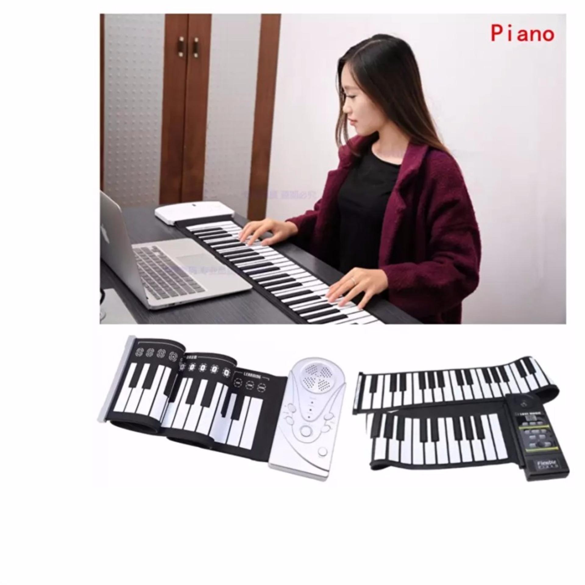 Chi tiết sản phẩm Đàn piano điện tử bàn phím cuộn dẻo 49 keys (Trắng) Hàng Nhập Khẩu