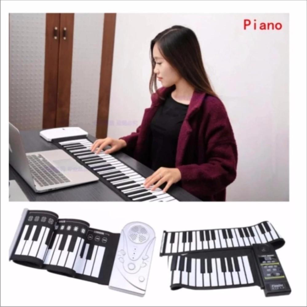 Chi tiết sản phẩm Đàn piano điện tử bàn phím cuộn dẻo 49 keys (Trắng) – Hàng Nhập Khẩu