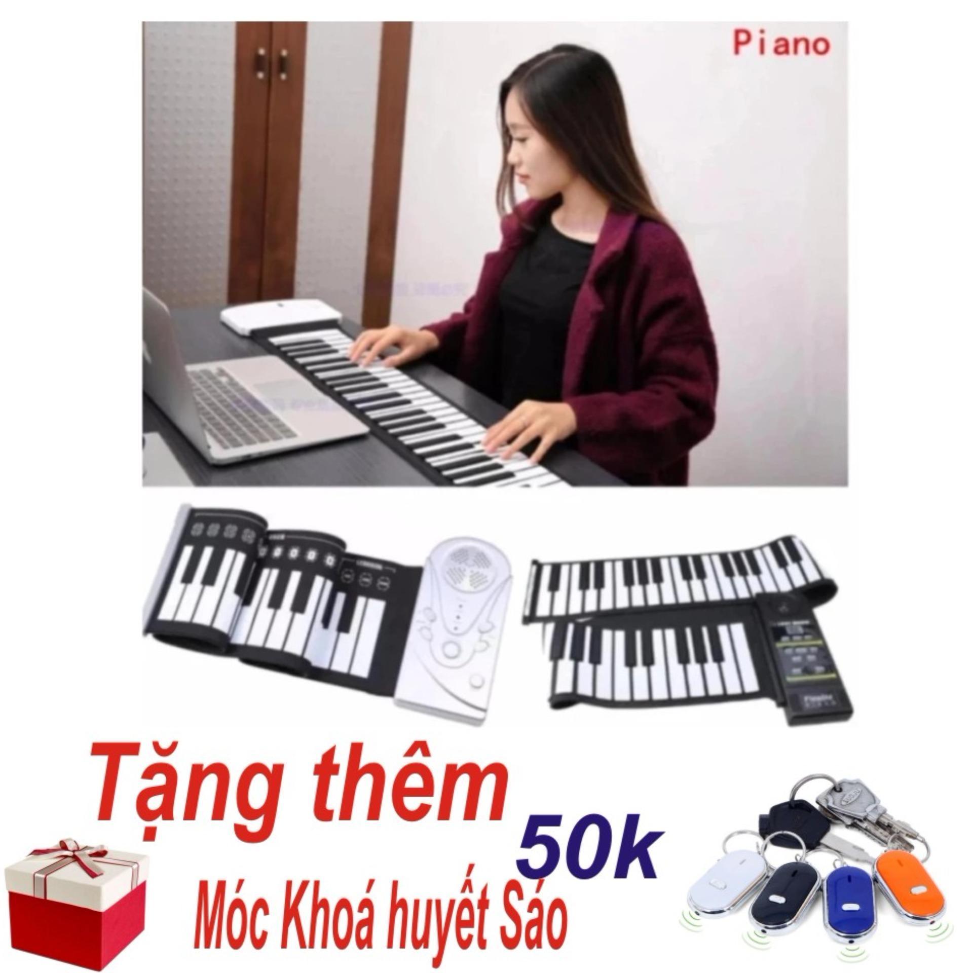 Chỗ nào bán Đàn Piano Điện Tử Bàn Phím Cuộn Dẻo 49 Keys (Trắng) – Hàng Nhập Khẩu + Tặng Móc Khoá Huyết Sáo Thông Minh