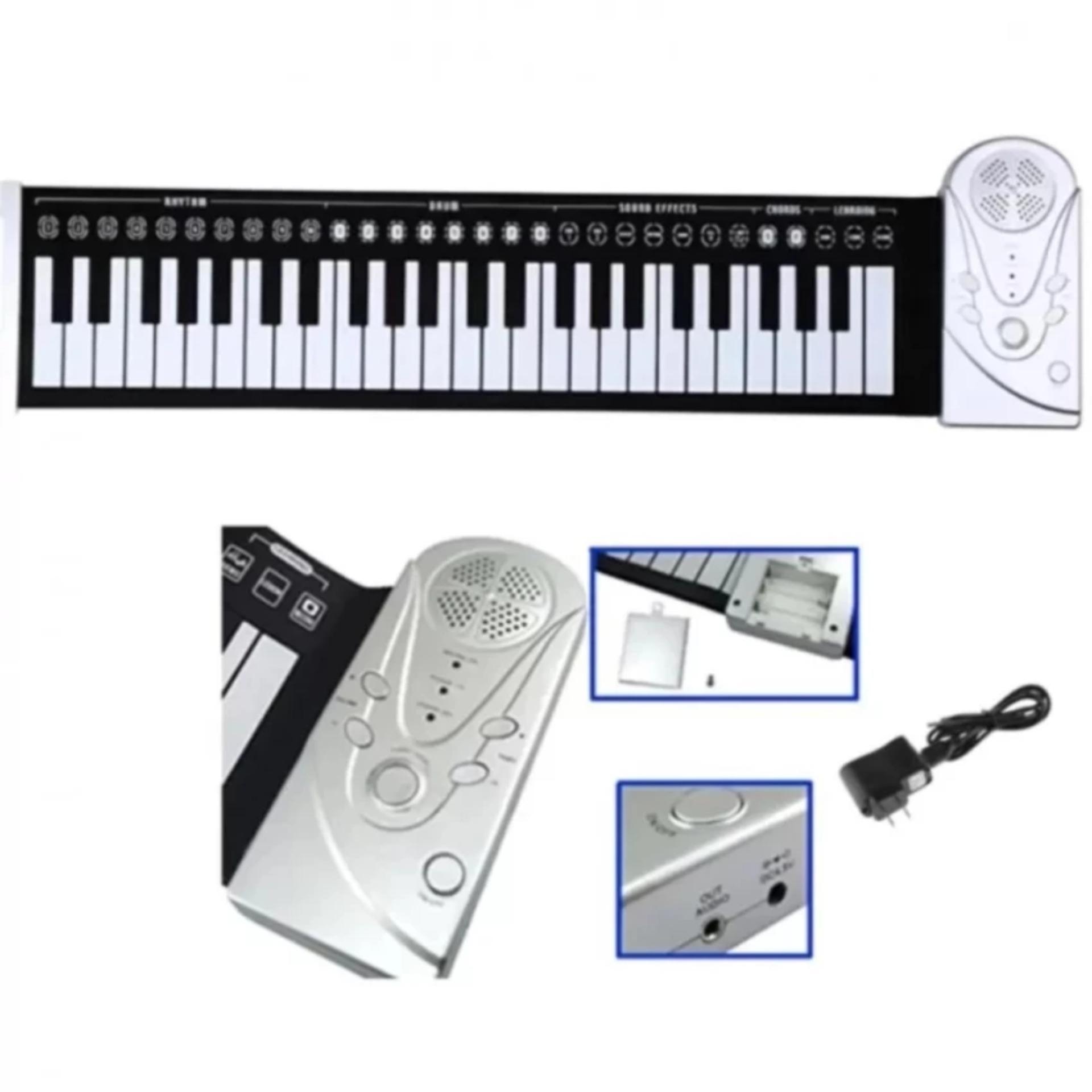 ĐÀN PIANO ĐIỆN TỬ BÀN PHÍM CUỘN DẺO GẤP GỌN DỄ DÀNG 49 PHÍM