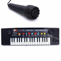 Đàn Piano điện tử có Mic sành điệu cho bé (Đen phối trắng)