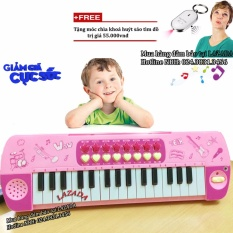 Đàn Piano điện tử có mic sành điệu cho bé + Tặng móc khoá huýt sáo