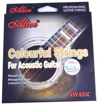 Dây đàn guitar màu colourful strings Alice AW-435