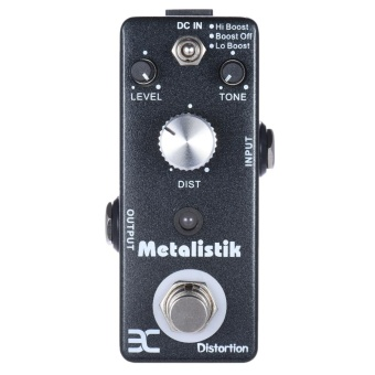 ENO TC-11 Distortion Guitar Effect Pedal Metal Ture Bypass Metalistik Black - intl
