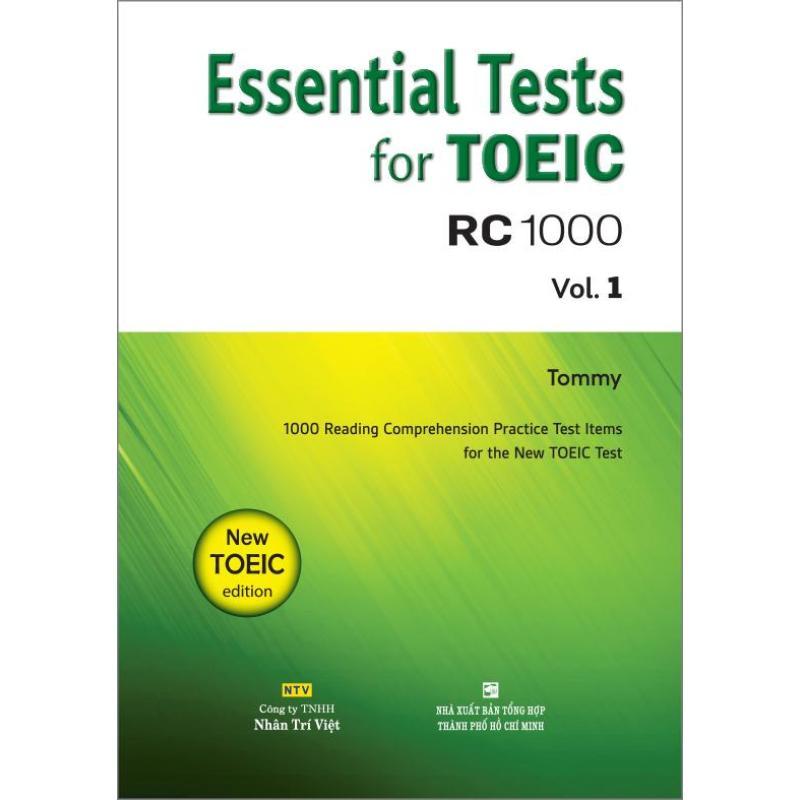 Mua Essential Tests for TOEIC: RC 1000 Vol. 1