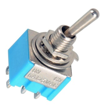 Fancytoy 1 Pcs Blue Dpdt Mini Toggle Switch On-On High Qualityguitar Switch New - - intl
