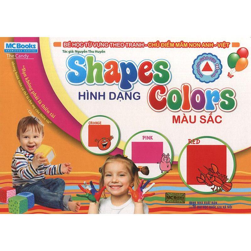 Mua Flashcard Shapes - Hình dạng & Colors - Màu sắc