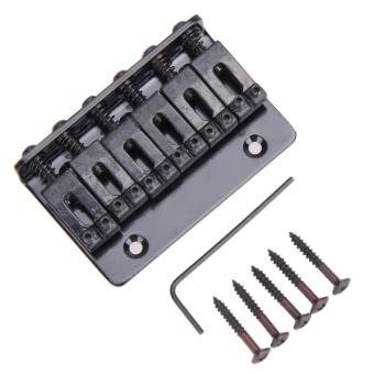 Hardtail Bridge Top Load 65mm Electric Guitar Bridge with 5 Screws(Black) - intl