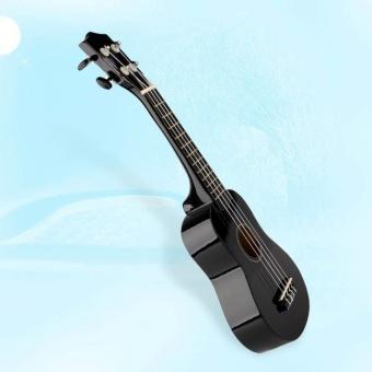 HLY 21 Soprano Basswood Hawaiian Guitar 12 Frets Ukulele Ukeinstrument Wood Black - intl