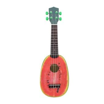 "HLY 21"" Ukelele 4 Strings Colorful Lovely Watermelon Basswood Stringedmusical Instrument Christmas Gift Present - intl"