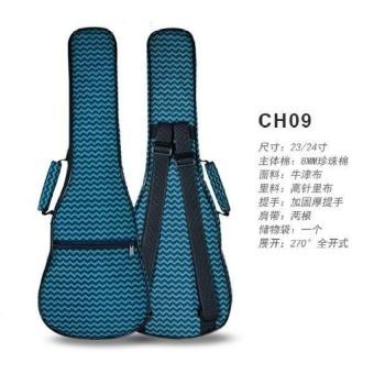 HLY 23/24 Inch Ukulele Package Double Shoulder Bag Cotton Color - intl