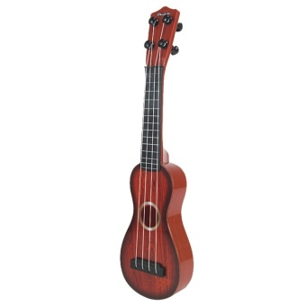 HLY 4 Strings Musical Plastic Toy Ukulele Small Guitar Forbeginners Kids Child - intl