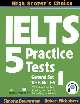 Ebook IELTS 5 Practice Tests - General Set 1 PDF
