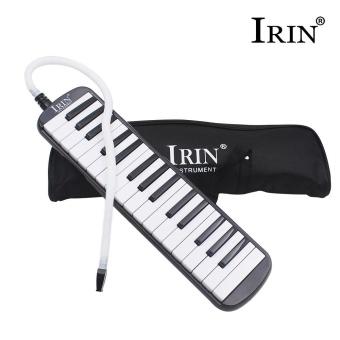 IRIN 32-Key Melodica with Mouthpiece & Hose & Bag Black -intl