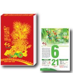 Lịch Bloc Trung Màu Hoa Trái Bốn Mùa