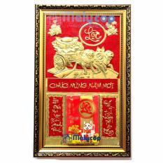 Lịch Treo Tường Melycop – Bộ Lịch Tết Treo Tường Vinh Hoa Phú Quý Bằng Đồng Vàng