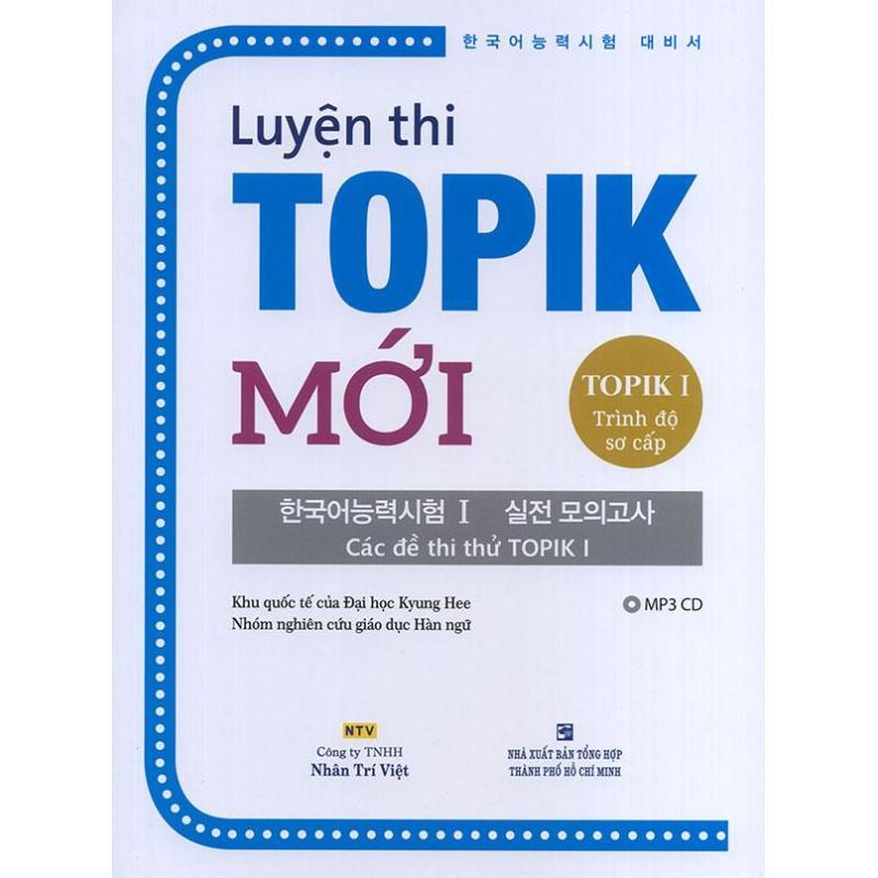Mua Luyện thi TOPIK Mới - TOPIK I Trình độ sơ cấp (kèm CD)