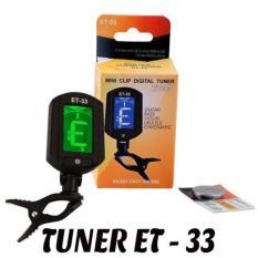 Máy lên dây đàn Ghi-ta Tuner Eno ET-33 (Đen)