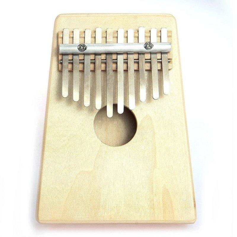 Mbira Thumb Piano 10 Key Finger Thumb Piano Kalimba Thumb Piano Mbira Likembe Sanza African Thumb Piano Natural