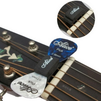 Media, Music Books Guitar Bass Accessories 1Pcs Black Guitar Headstock Pick Holder Rubber- - intl
