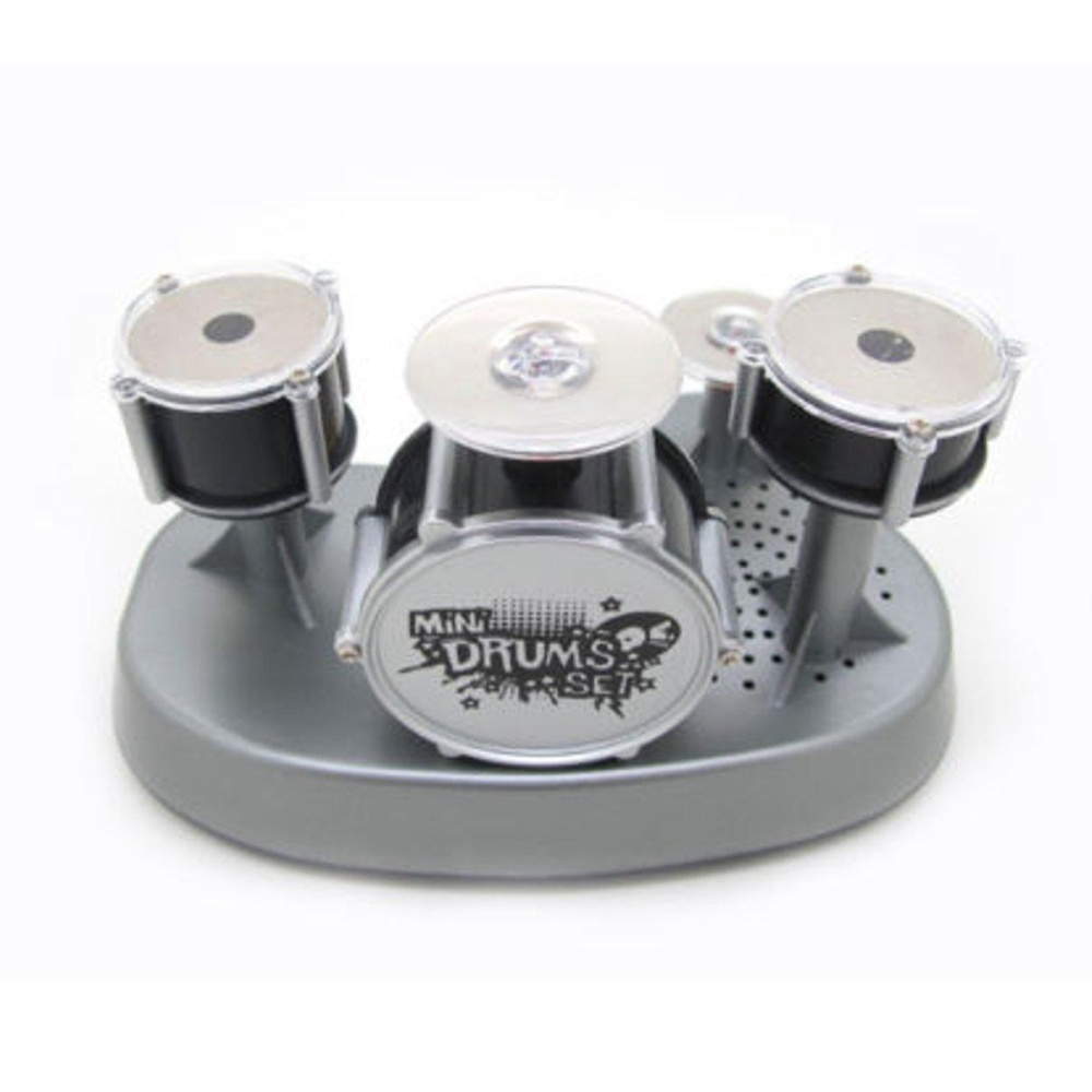 Mini Finger Drum Set Novelty Desk Musical Toy Touch Drumming LED Light Kids Jazz - intl