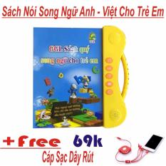 Sách Nói Điện Tử Song Ngữ Anh- Việt Giúp Trẻ Học Tốt Tiếng Anh + Cáp Sạc Dây Rút 4 Đầu